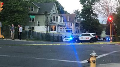 Heavy police presence on Genesee St. in Springfield.