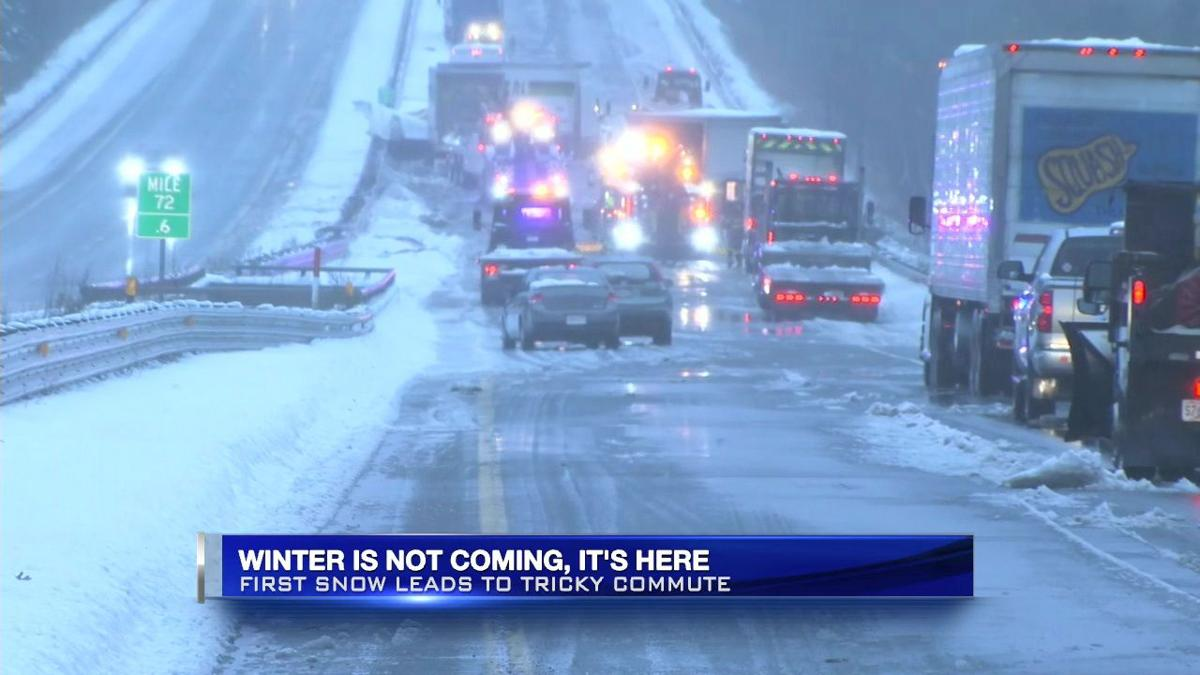 First winter weather of the season leads to tricky morning commute