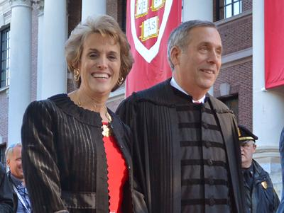 Harvard's president and his wife test positive for coronavirus