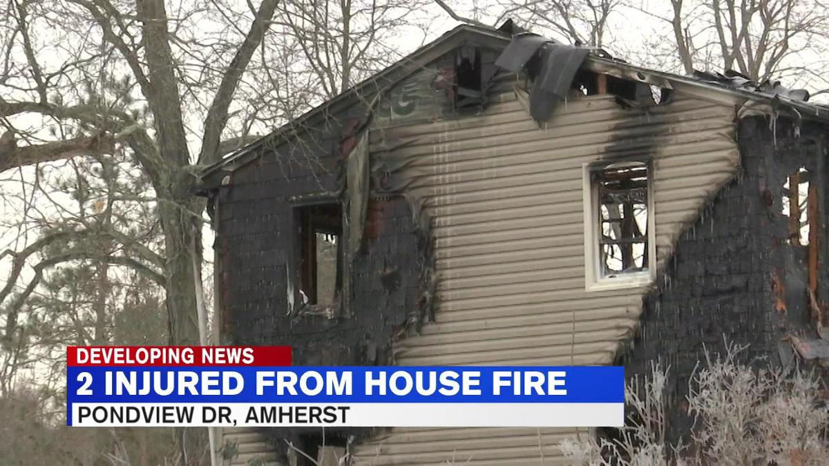 Fire destroys Amherst home