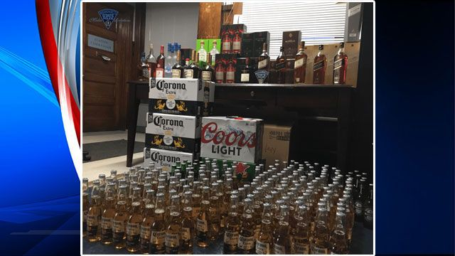 Man arrested after transporting too much alcohol in his van