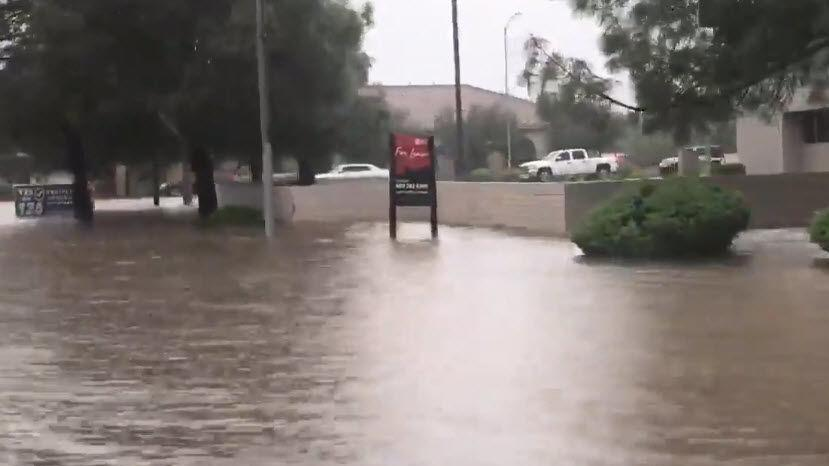 VIDEO: Rainy day soaks the streets of Phoenix