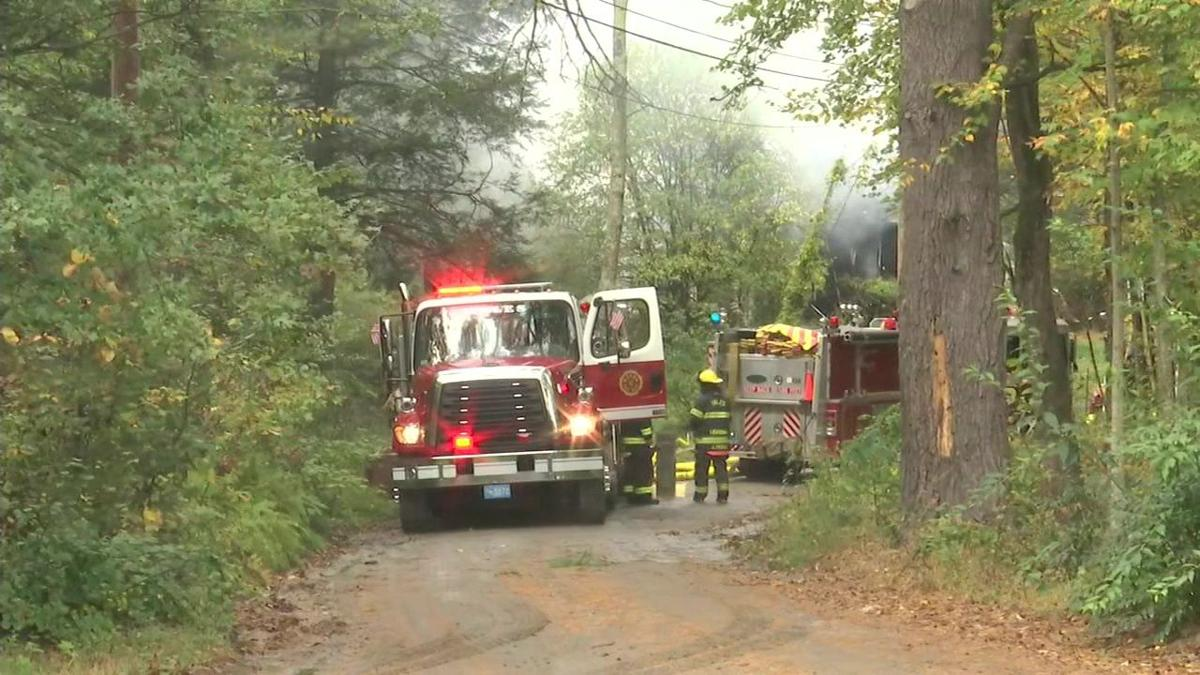 Multiple communities called to house fire on Lakeshore Drive in Monson