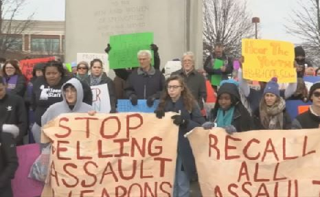 Rally held outside Smith and Wesson to end gun violence