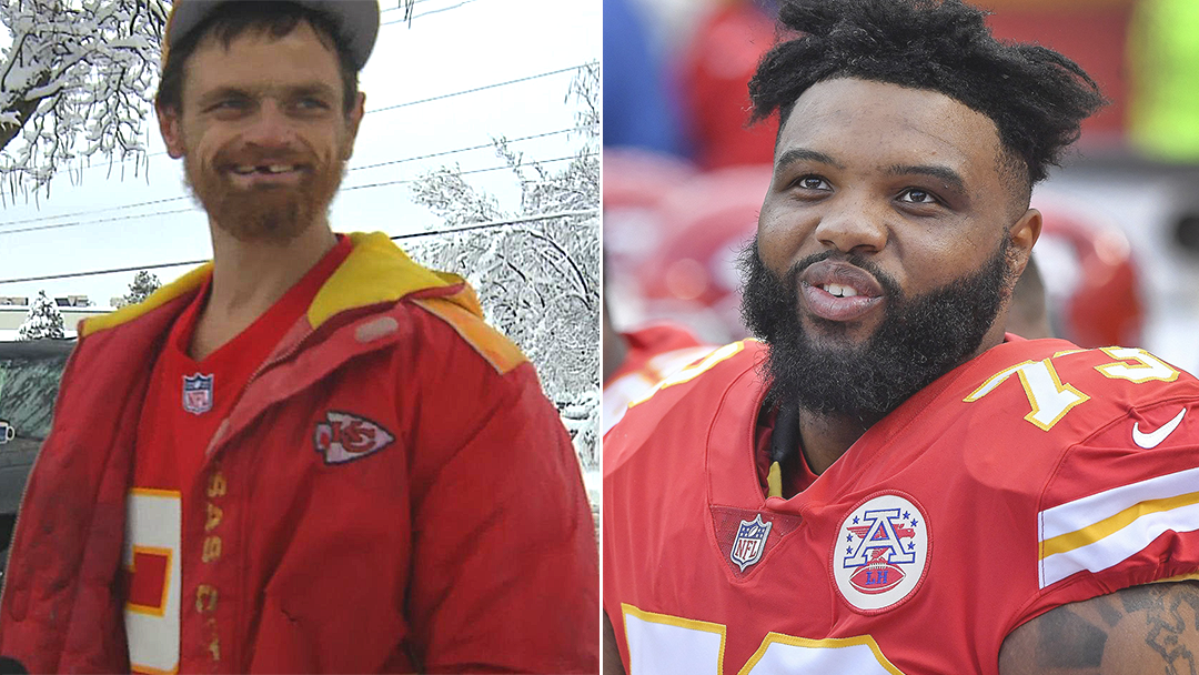 Homeless man rewarded after helping NFL player stuck in snow