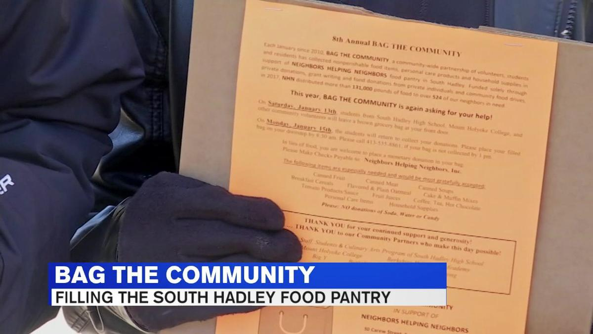 South hadley students aim to pack shelves of local food pantry