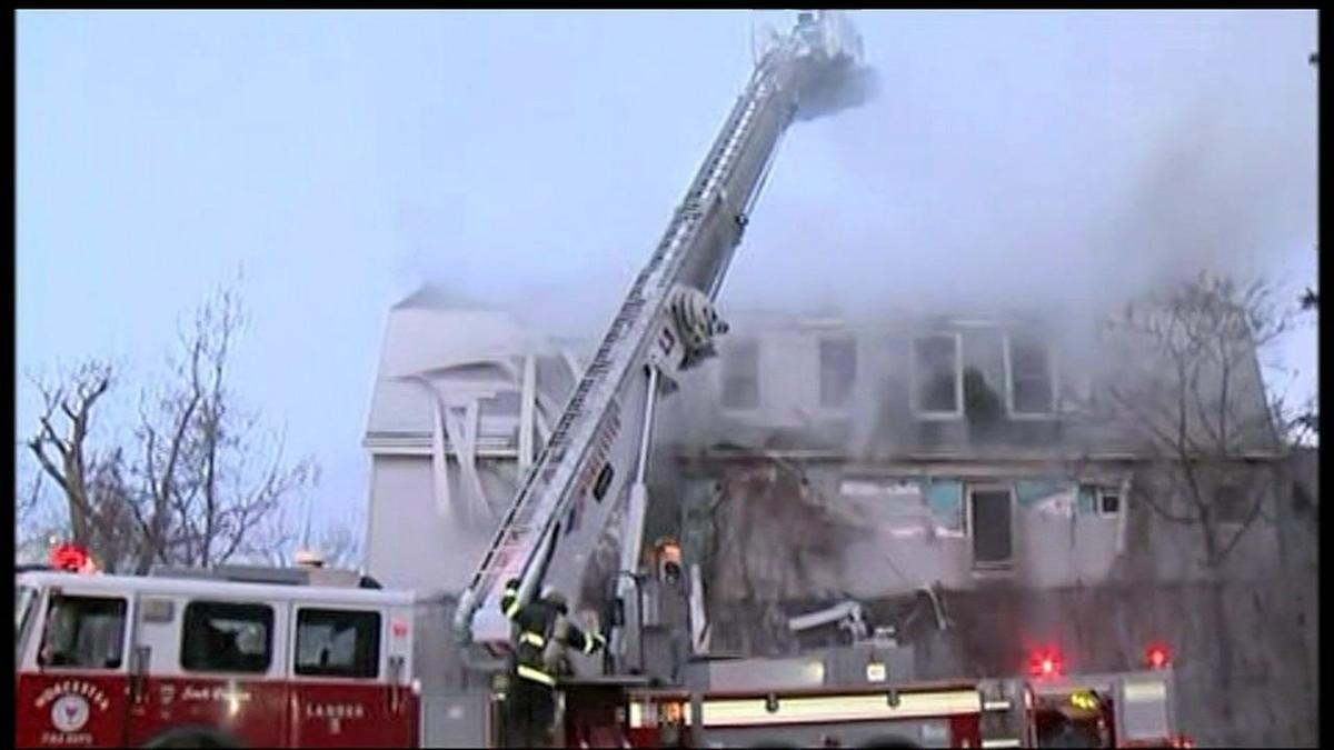 Five alarm fire claims life of Worcester firefighter
