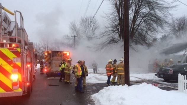 One displaced after fire tears through Enfield home.