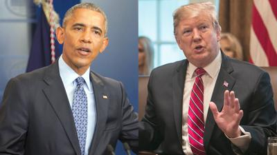 Obama and Trump face off over claims of strong economy