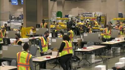Ballots being counted 2020 election