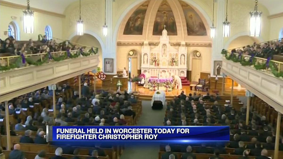 Thousands gather to pay their respects to fallen Worcester firefighter Christopher Roy