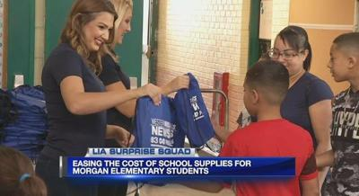 Lia Surprise Squad helps Holyoke students start the year off right