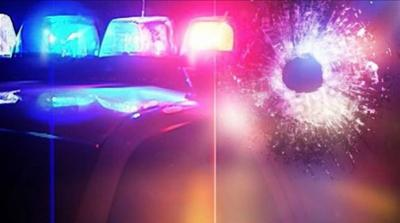 police lights generic with bullet hole