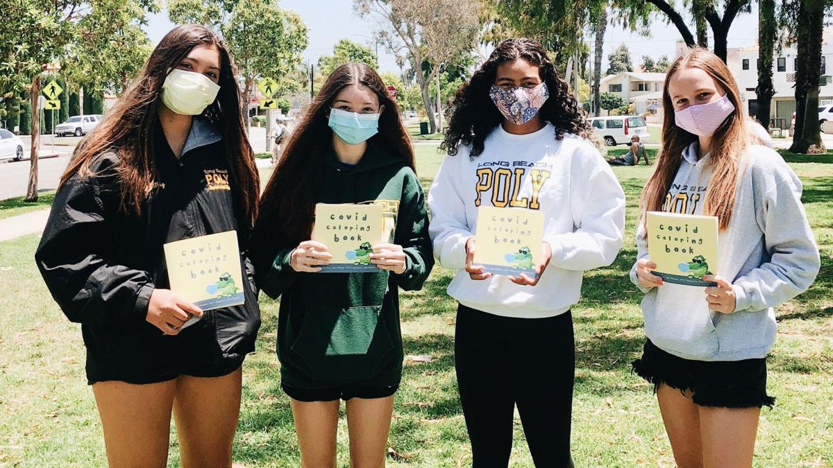 Four California teens create Covid-19 coloring book for children and raise money for charity