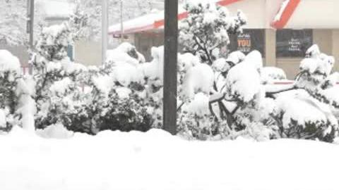 Snow covers parts of Lubbock, Texas
