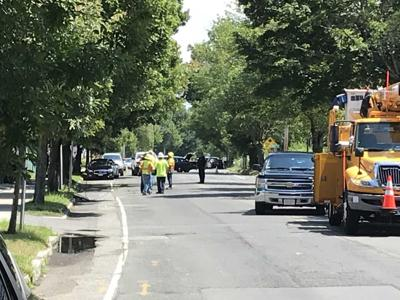 Main Street in West Springfield closed