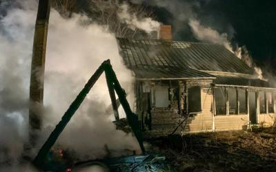 Surrounding towns called to Ashfield to help douse structure fire.