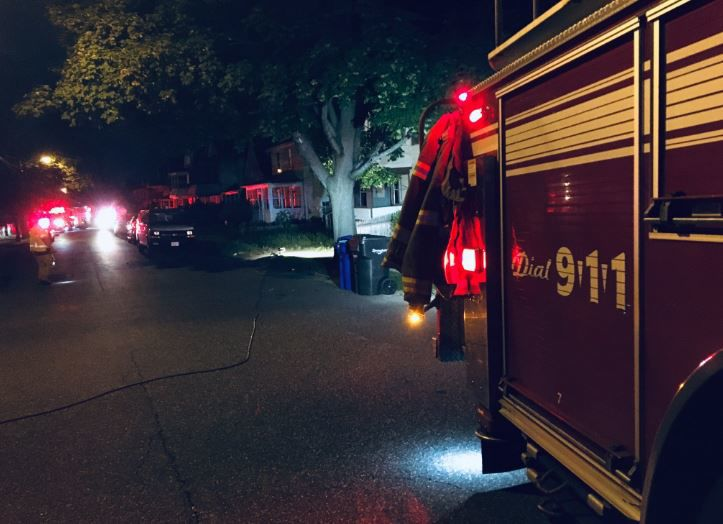 Several Springfield homes evacuated due to gas leak.