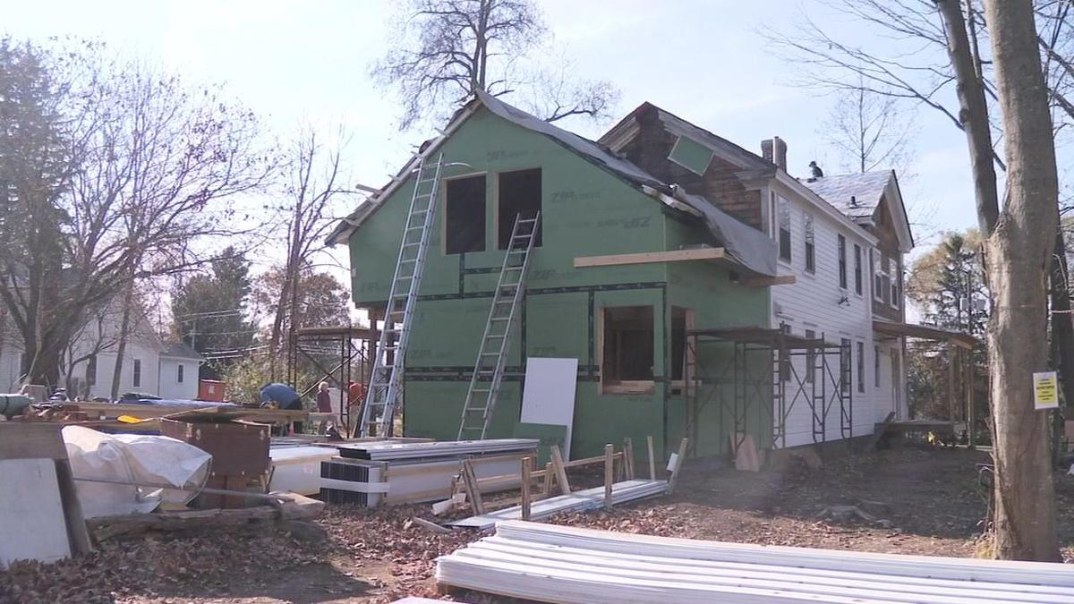 Renovations underway at nearly 200 year old Amherst farm house