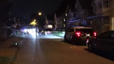 Heavy police presence on Grant St. in Springfield.