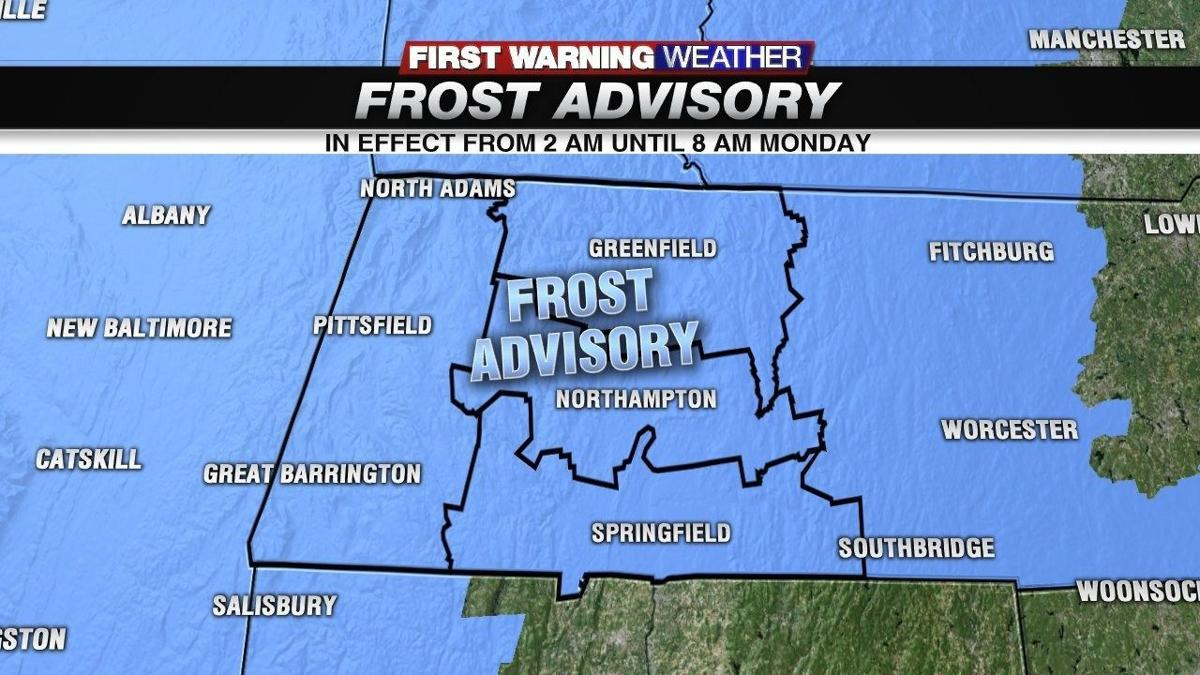 Frost Advisory for all of western Mass. Another clear and chilly night tonight