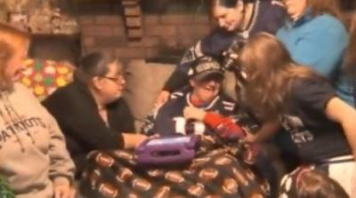 Surprise Squad comes to aid of local Patriots fan tackling ALS.