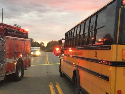 A 7-year-old Maryland girl is in critical condition after a truck hit her while she was getting off her school bus