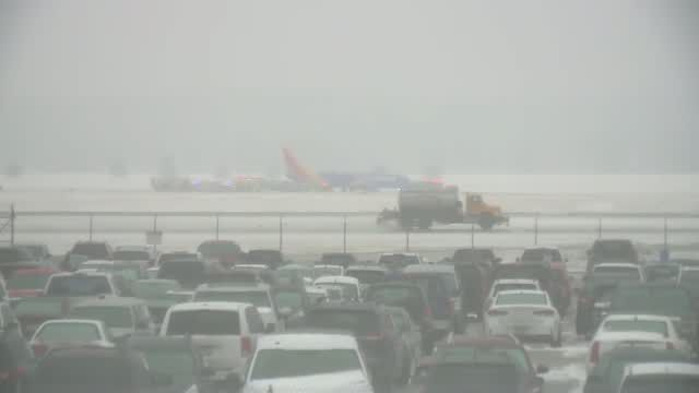 Omaha airport closed after plane slides off runway