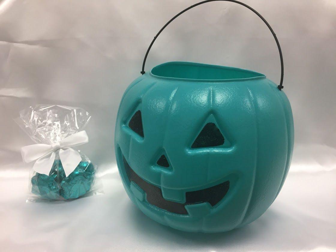 Teal pumpkins; Amanda's Own Confections