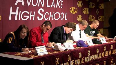 Five Avon Lake athletes sign letters of intent