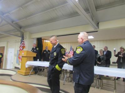 Surprised North Olmsted police chief honored with award