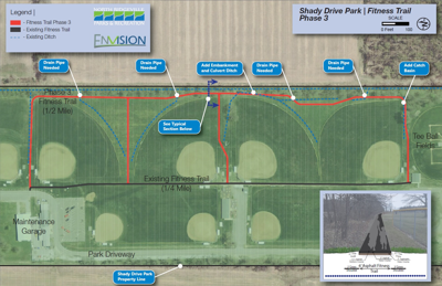 Trail expansion planned for North Ridgeville's Shady Drive Complex