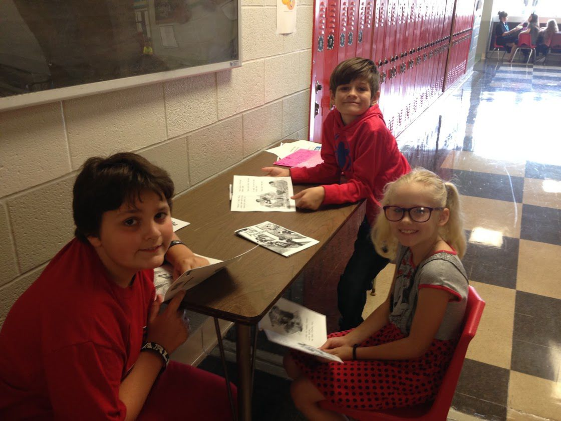Sheffield middle schoolers buddy with younger students