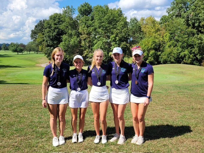 Marquette second place golf 2021