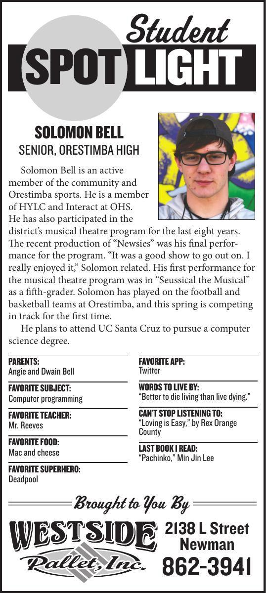 Student Spotlight: Solomon Bell
