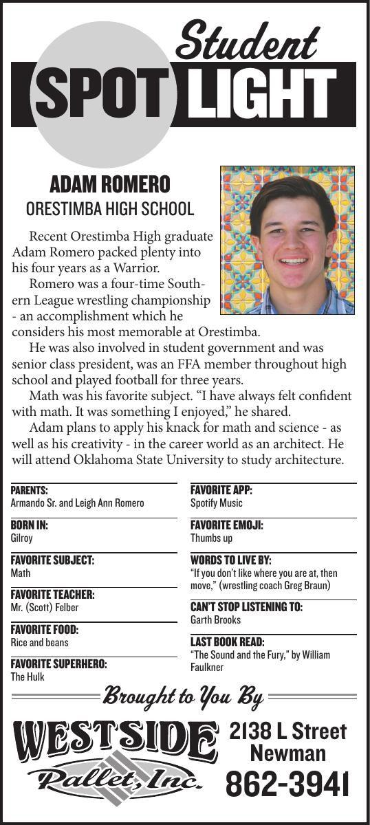 Student Spotlight: Adam Romero