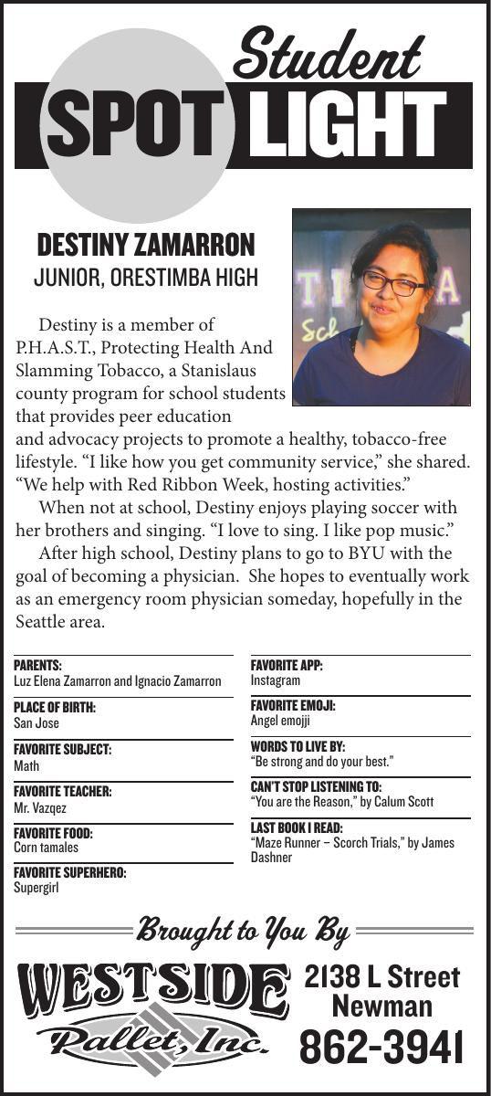 Student Spotlight: Destiny Zamarron
