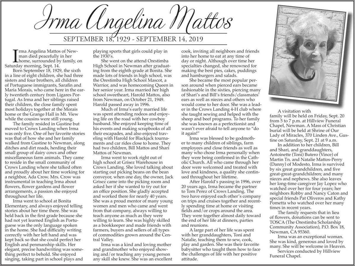 Tribute: Irma Mattos