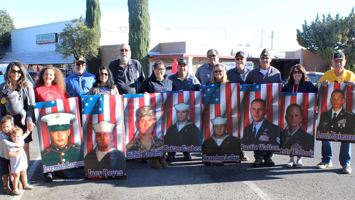 Military banners go up in downtown Gustine