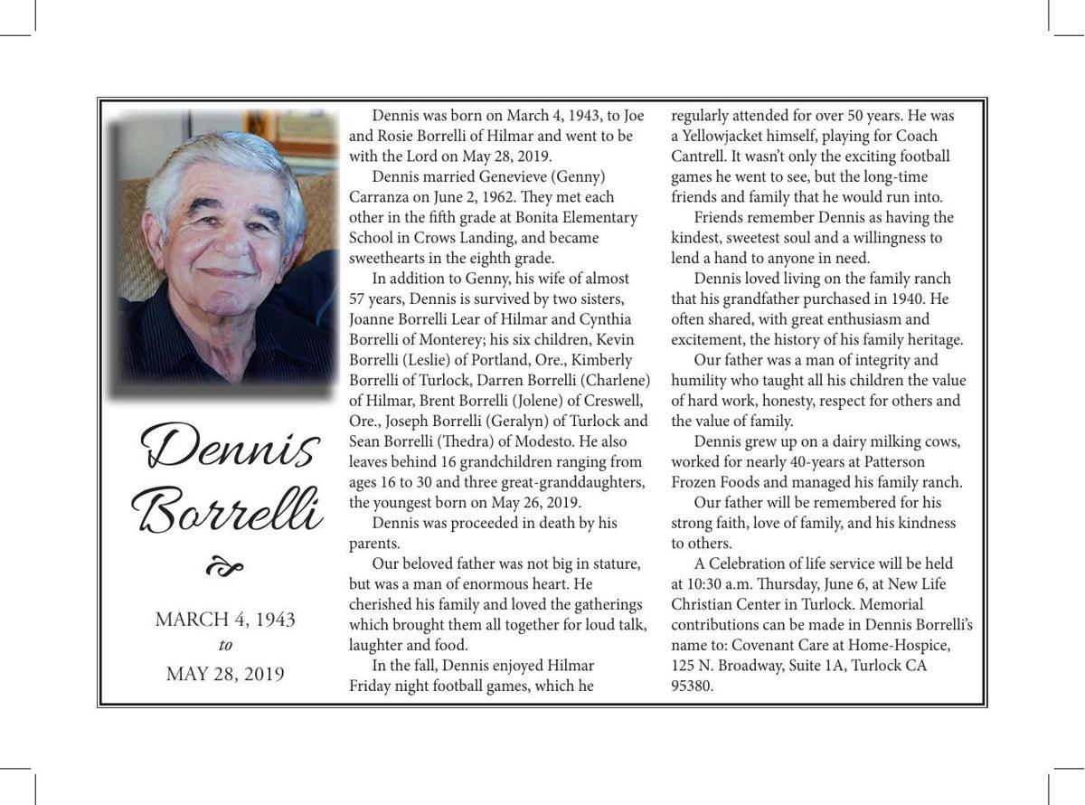 Tribute: Dennis Borrelli
