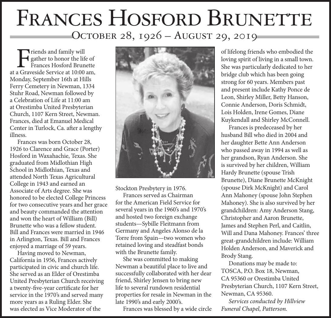 Frances Brunette