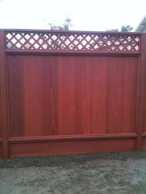 Redwood Fence Stained