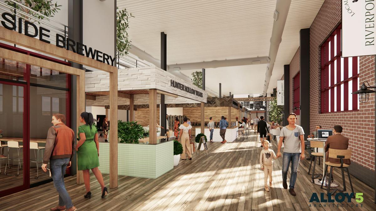 Riverport Public Market rendering 3