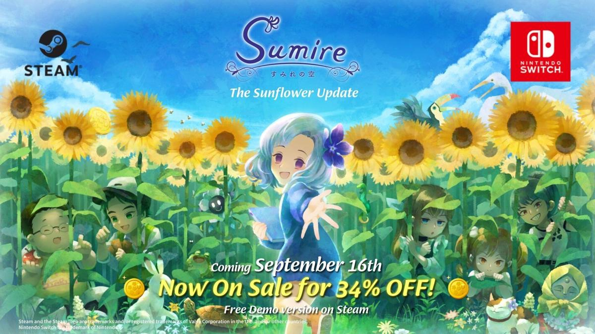 Sumire is on sale for 34% off to commemorate the update. Available on Steam and Nintendo Switch.