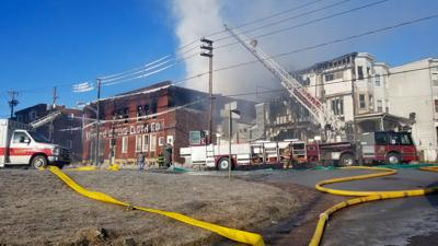 Fire tears through former factory in Shenandoah