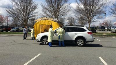 Penn State Health St. Joseph drive-up coronavirus - COVID-19 testing