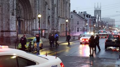 Shooting near church in Allentown