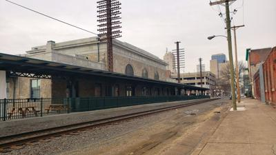 Franklin Street train station in downtown Reading