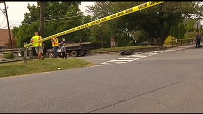 Man dies after dump truck, motorcycle collide in Bethlehem Township