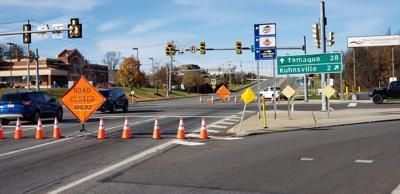 Route 100 closure